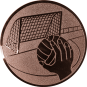 Emblem 50mm Handball mit Tor, bronze