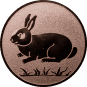 Emblem 50mm Hase, bronze