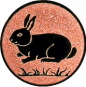 Emblem 25mm Hase, bronze