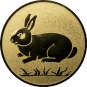 Emblem 50mm Hase, gold