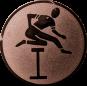 Emblem 50mm Hürdenlauf, bronze