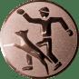 Emblem 50mm Hundesport mit Führer, bronze