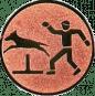 Emblem 50mm Hundesport mit Hindernis, bronze