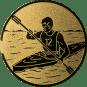 Emblem 25mm Kajakfahrer, gold