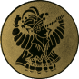 Emblem 50mm Karnevalsprinz, gold