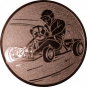 Emblem 50mm Kartfahrer 1, bronze
