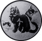 Emblem 50mm Katzen, silber