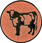 Emblem 25mm Kuh, bronze