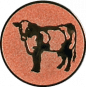 Emblem 50mm Kuh, bronze