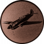 Emblem 50mm Kunstflugzeug, bronze