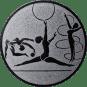 Emblem 50mm Kunstturnen, silber