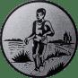 Emblem 50mm Laeufer am See, silber