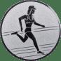 Emblem 50mm Laeuferin, silber