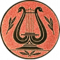 Emblem 50mm LYRA, bronze