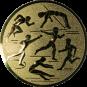 Emblem 50mm Mehrkampf, gold