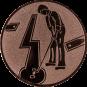 Emblem 50mm Minigolf männl., bronze
