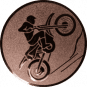 Emblem 50mm Motocross, bronze