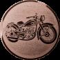 Emblem 50mm Motorrad, bronze