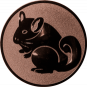 Emblem 50mm Nager, bronze