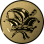 Emblem 50mm Narrenkappe, gold