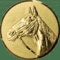 Emblem 50mm Pferd 3D, gold