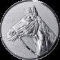 Emblem 50mm Pferd 3D, silber