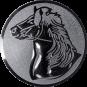 Emblem 50mm Pferd, silber