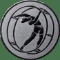 Emblem 50mm Rhönrad, silber