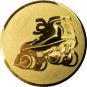 Emblem 50mm Rollschuh, gold