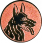 Emblem 50mm Schäferhund, bronze