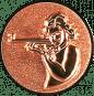 Emblem 25mm Schütze m. Gewehr 3D, bronze schießen