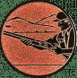 Emblem 25mm Schütze m. Schrotflinte, bronze schießen