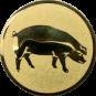Emblem 50mm Schwein, gold