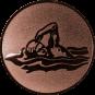 Emblem 50mm Schwimmer Freistil, bronze