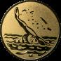 Emblem 50mm Schwimmer Rücken, gold