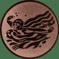 Emblem 50mm Schwimmer Schmetterling, bronze