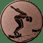Emblem 25mm Schwimmer Startsprung, bronze