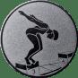 Emblem 25mm Schwimmer Startsprung, silber