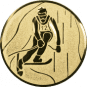 Emblem 50mm Ski Alpin, gold