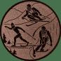 Emblem 50mm Ski, bronze