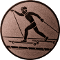 Emblem 50mm Skiroller, bronze