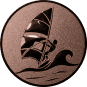 Emblem 50mm Surfer, bronze
