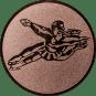 Emblem 50mm Tänzer Spagat, bronze