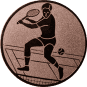 Emblem 50mm Tennisspieler, bronze