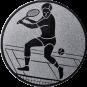 Emblem 50mm Tennisspieler, silber