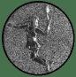 Emblem 50mm Tennisspielerin, siber 3D