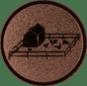 Emblem 25mm Tiergehege, bronze