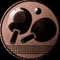Emblem 50mm Tischtennisschläger, bronze