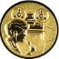 Emblem 25mm Tonaufnahme, gold