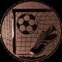 Emblem 50mm Tor, Fußball, Schuh, bronze